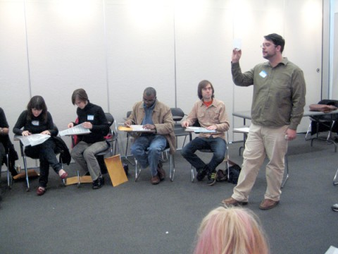 Joe Galbreath holds forth at the workshop
